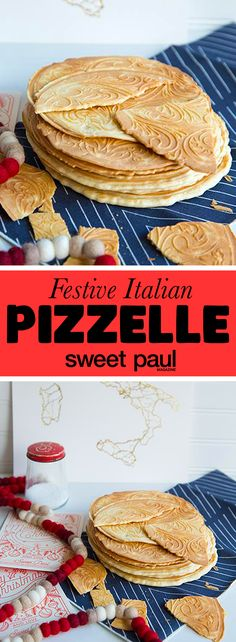 Sweet Paul ---Pizzelle are delish Italian cookies that are perfect for your holiday celebrations! No Cook Desserts, Just Desserts, Dessert Recipes, French Cookies, Italian Cookies, No Bake Cookies, Yummy Cookies, Gourmet Recipes, Sweet Recipes