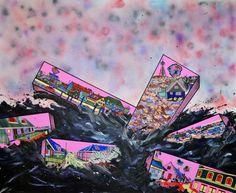'KNASTER', 2014 Acrylic on canvas. 200 x 250 cm