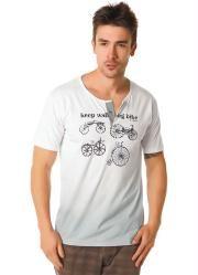 camiseta abertura frontal branca