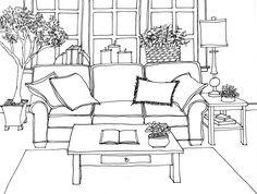 Die 38 besten bilder von zimmer zeichnen fluchtpunkt for Sofa zeichnen kinder