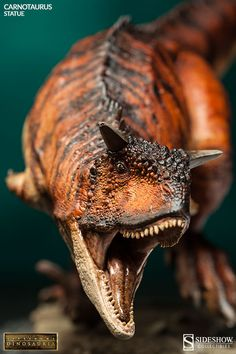 The new dinosaurian Carnotaurus Statue now available at Sideshowcollectibles.com for fans of Dinosaurs.