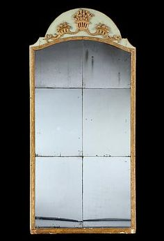 Rose Uniacke - Shop - A Louis XVI Pale-Green Painted & Giltwood Sectional Pier Mirror