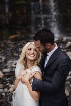 Epic Waterfall First Look  via Rocky Mountain Bride