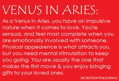 THE WORLD OF ASTROLOGY: Venus in Aries http://pinterest.com/pin/138485757263687314/