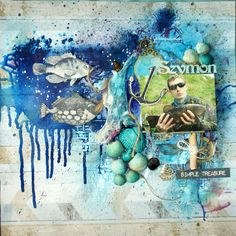 Ocean Scrapbooking Layout Mixed Media