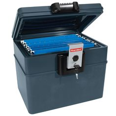 First Alert 2037F 0.62 Cu.Ft. Water and Fire Protector File Chest with Key Lock - Walmart.com - Walmart.com