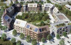 Skärvet - storgårdskvarter i Växjö - URBIO - performativ landskapsarkitektur