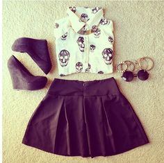 Love this for a date... without the heals, probably change into black toms or converse