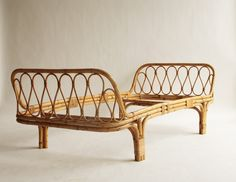 Italian Rattan Day Bed, 1950s for sale at Pamono