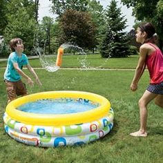 Fun water games! Volleyball with a wet sponge! Freeze tag with ice water (get it?! Freeze?!) and more!!!