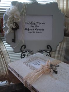 Wedding Guest Book and matching sign in sign Shabby by trusted, $135.00