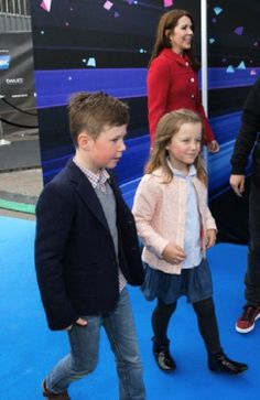 Danish Crown Princess Mary arrives with her two children Princess Isabella and Prince Christian for the rehearsal of the second half-final at the Eurovision Song Contest 2014 in Copenhagen, Denmark, 08.05.14.