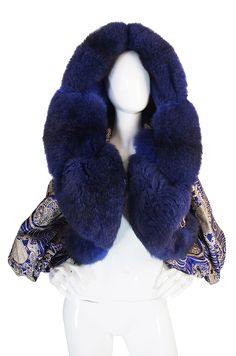 Rare 1989 Fur & Silk Gianfranco Ferre Couture Jacket image 2