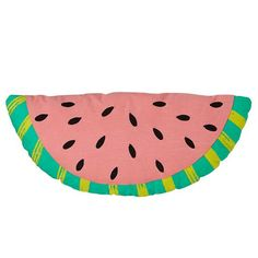 Our Watermelon Throw Pillow was designed exclusively for us by Ampersand Designs. Spot clean and 100% cotton.