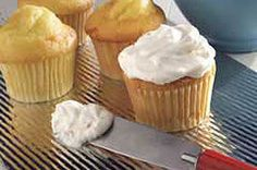 Cream cheese, butter, powdered sugar, milk, vanilla and toasted coconut are beaten into a fluffy frosting to spread over cakes or cupcakes.