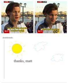 Ladies and gentlemen: Matt Smith.