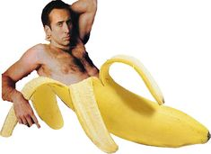 If you have ever wanted to see Nicholas Cage being seductive in a Banana peel, you are in luck.
