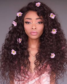 ute and pinky looks 🍒 Eye Curly Hair Styles, Natural Hair Styles, Hair Reference, Aesthetic Hair, Makeup Designs, Pretty Hairstyles, Hair Inspo, Makeup Inspiration, Pretty People