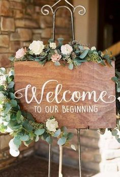 Perfect Rustic Wedding Ideas ★ rustic wedding ideas sign with flowers divine decorevents What's a rustic wedding without the elements of nature? Do you want to host a memorable rustic wedding? See great rustic wedding ideas. Engagement Party Planning, Engagement Party Decorations, Bridal Shower Decorations, Diy Party Decorations, Wedding Engagement, Engagement Dinner Ideas, Lake Wedding Decorations, Engagement Party Cookies, Engagement Signs