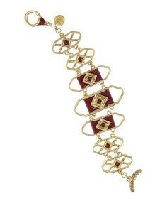 Another great find on #zulily! Gold & Sangria Thread-Wrapped Flex Bracelet by The Sak #zulilyfinds