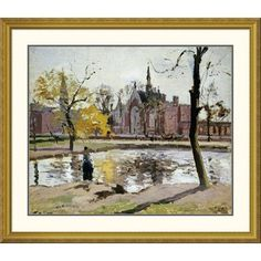 """Global Gallery 'Dulwich College, London' by Camille Pissarro Framed Painting Print Size: 39.85"""" H x 46"""" W x 1.5"""" D"""