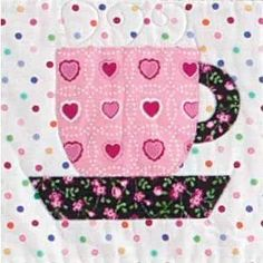 Tea Cup Block Pattern by Holly Holderman through Quilting Daily