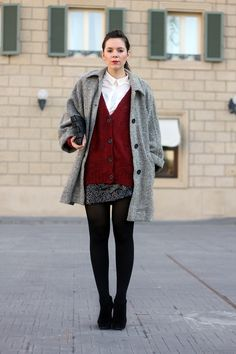 #red #paillettes #gray #cozy #chic #outfit #fashion #blogger #streetstyle    VIA: www.ireneccloset.com