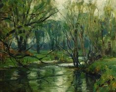 "John F. Carlson. ""Limpid Brook"" - 8 x 10, oil on board."