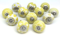 Stunning original These Please cupboard knob designs to brighten up furniture every day of the year http://www.theseplease.co.uk/Handles-By-Colour/Yellow/