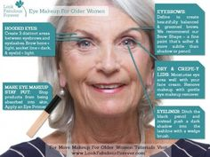 Eye Makeup for older women is challenging to apply well. But these guidelines will help you to achieve a professional finished effect.