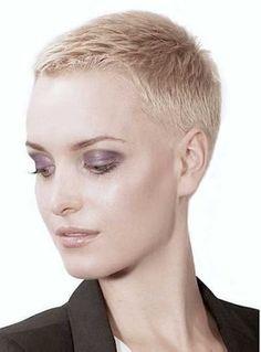 Super short hair ash blonde |