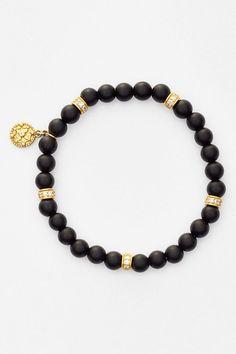 Freida Rothman Onyx Bead Stretch Bracelet