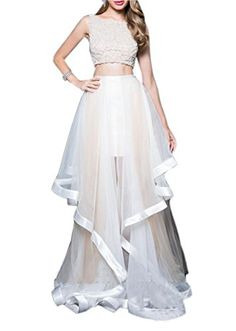 Ikerenwedding Women's Straps Beadings Empire Two Piece Prom Dress With Ruffles White US02 Ikerenwedding http://www.amazon.com/dp/B01E6HPBN8/ref=cm_sw_r_pi_dp_GuWdxb039CBMT