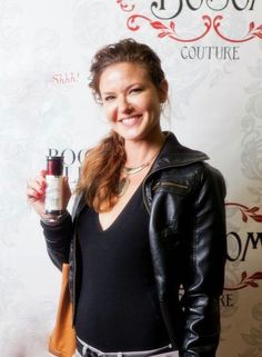 """Alicia Lagano from The Client List with Boob Glue®. Praised as a boob job in a bottle, this """"A"""" list adored essential will have you breast obsessed in no time! http://www.bosomcouture.com"""