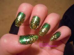Super glitter tips nails