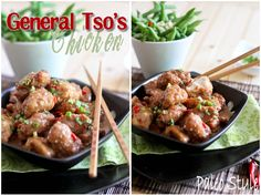 General Tso Chicken Paleo Style | by Sonia! The Healthy Foodie (requires dates, nut butter and arrowroot flour)