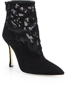 Pin for Later: Prepare to Be Dazzled by These Designer Discounts Manolo Blahnik Suede Lace Booties Manolo Blahnik Suede Lace Booties (£371, originally £883)