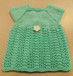 Sweet Summer Knit Baby Dress By: Marianna from Marianna's Lazy Daisy Days found on AllFreeKnitting.com