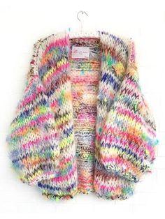 Melange de Luxe - Oh 🌈 U did it again. Will arrive soon☀️ . Chunky Knitting Patterns, Loom Knitting, Knitting Stitches, Free Knitting, Crochet Patterns, Knit Vest Pattern, Wool Yarn, Knitwear, Knit Crochet