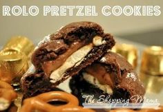 Rolo Pretzel Cookies - chocolate, caramel and pretzel within one cookie.  Yum! by jackie