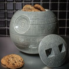 This Death Star Cookie Jar is fully armed and operational to house you