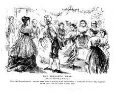 The Servants' Ball    Pictures from Punch. 19th Century.