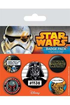 Star Wars Pin Badges 5-Pack Cult  - Badges - Accessories Gear4Geeks