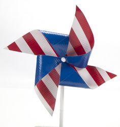 Patriotic Duck Tape pinwheel