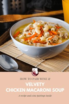 A healthy soup recipe that is flexible enough and can be served for lunch, and dinner. A homemade soup recipe that has all the nutrients you need for a complete meal. This hearty chicken soup can be a great soup for lunch and the kids will surely love it. A soup recipe that can be paired with rich white wines.  #soupandsalad #chickensouprecipe #pastaandchickensouprecipes #foodie #healthyrecipeswithpasta #dinnerrecipeswithchicken Hearty Chicken Soup, Chicken Soup Recipes, Healthy Soup Recipes, Lunch Recipes, Wine Recipes, Pasta Recipes, Potluck Dinner, Wine Dinner, Great Dinner Recipes
