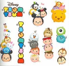 Tsum tsum Tsum Tsum Party, Disney Tsum Tsum, Third Birthday, 1st Birthday Parties, Digital Decorations, Chibi Kawaii, Happy Birthday Printable, Tsum Tsums, Disney Addict