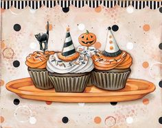 Fun Halloween cupcakes @Jenny Holiday