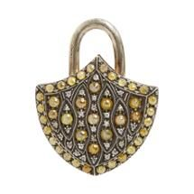Sevan Bicakci Yellow Diamond, Gold & Sterling Silver Extra Large Padlock