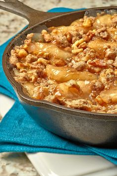 Our mouth-watering Deep Dish Apple Crisp brings all the flavors of nuts, oats, spice and apple into a traditional family-favorite dessert