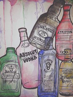 Drown yourself in my alcohol painting